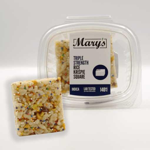 Mary's Triple Strength Rice Krispie Square 140mg