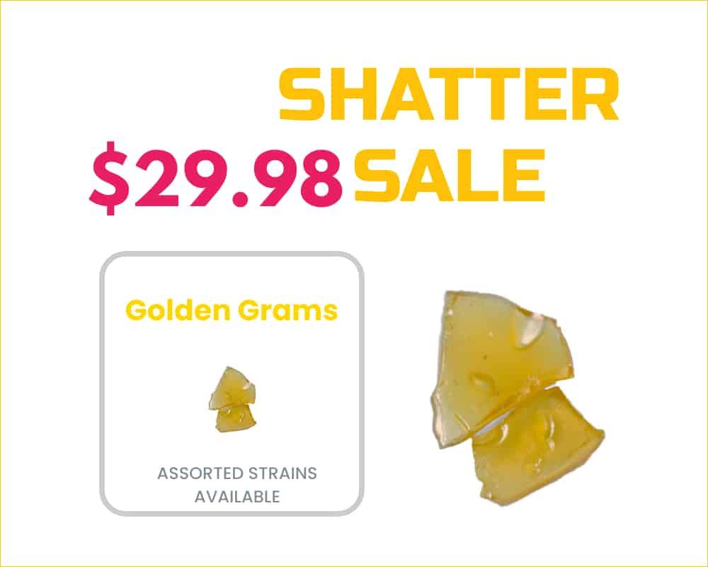golden gram shatter sale banner