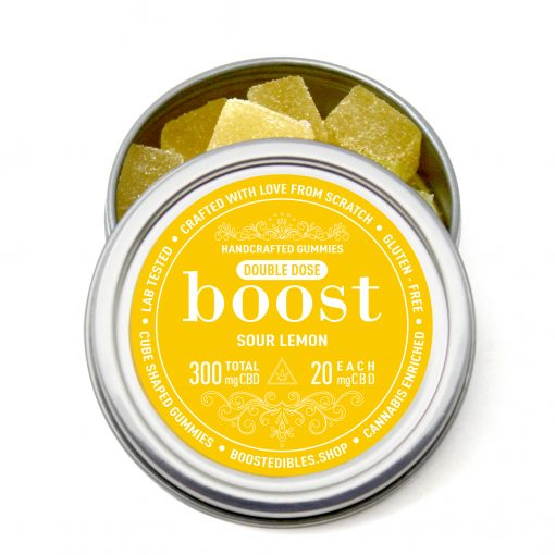 Boost Sour Lemon Gummies 300mg