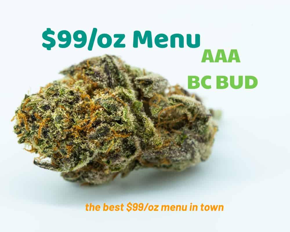 $99/oz weed