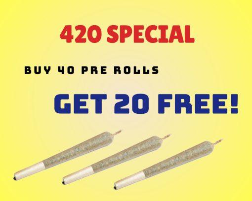 40 pre rolls get 20 free