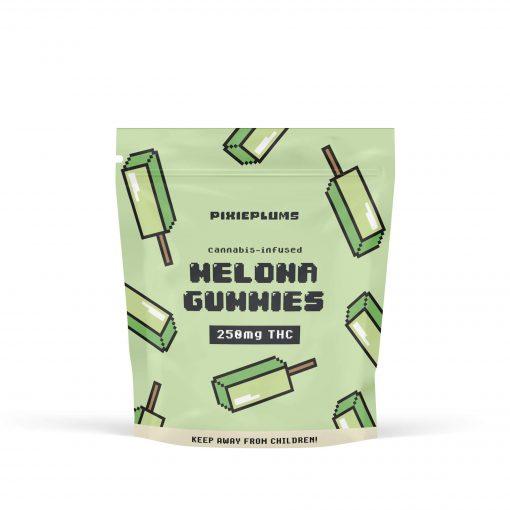 PixiePlums Melon Gummies 250mg THC