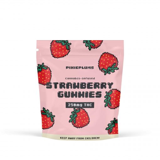 Pixie Plum Strawberry Gummies 250mg